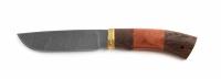 Нож Волк с кожаным чехлом (дамаск)