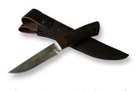 Нож Беркут с кожаным чехлом (дамаск)