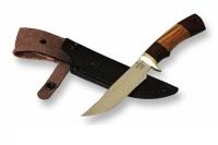 Нож Куница с кожаным чехлом (сталь 65х13)