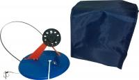 Набор оснащенных жерлиц в сумке, 5шт,ф195мм,пл.стойка,катушка ф63мм,леска 15м,груз 12гр,тройник,поводок