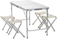 Туристический складной стол с 4 стульями